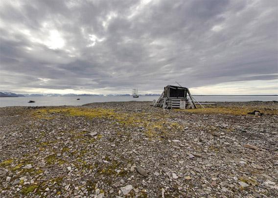 Ritterhytta: Panoramabilde utvendig 2